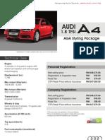 Audi A4 1.8 TSFI AGA Styling - Malaysian Variant
