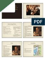 22 Overview of Gospels