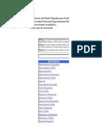 Plan de Estudio Cohorte i 2007 y II 2008