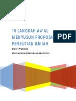 10 Langkah Awal Menyusun Proposal Penelitian Ilmiah