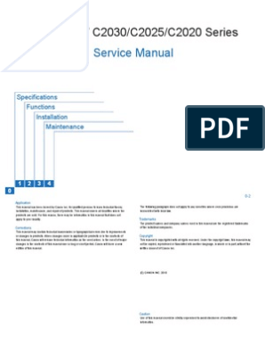 Canon SEND iR ADV C2030/C2025/C2020 Series Service Manual | Portable