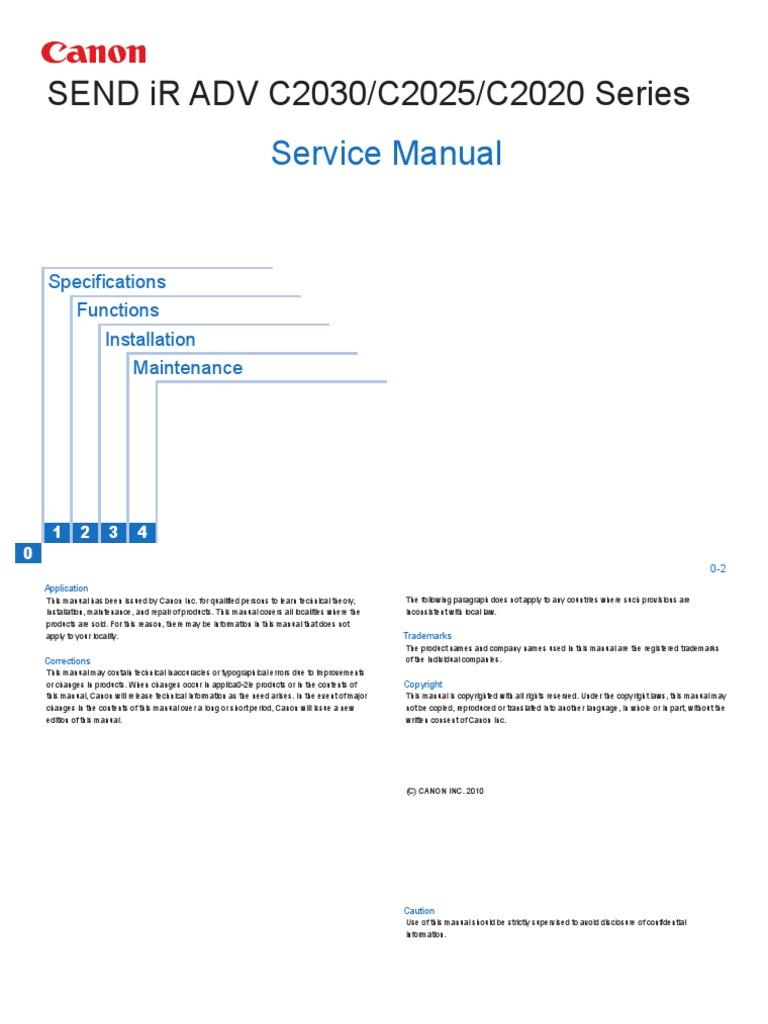 Canon send ir adv c2030c2025c2020 series service manual canon send ir adv c2030c2025c2020 series service manual portable document format internet protocols sciox Gallery