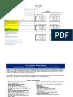 Kaplan - Club Quarters Reservation Sheet