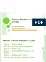 Android Training Syllabus - Course
