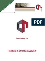 Pav. Adoquines Concreto