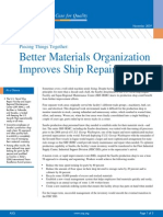 Better Materials Organization Improves Service