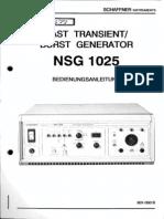 Schaffner EFT NSG 1025 User Manual De