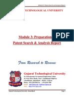 Module 3-Preparation of Patent Search