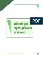 Motivacion Para Empleo