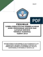 Draft Pedoman Lomba Kreativitas 2013