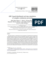 OPC Based Distributed Real Time Simulation of Complex Continuous Processes
