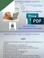 PRESENTACIÓN CURSO ACADÉMICO 2013_2014 CEIP ACENTEJO