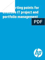 Four Starting Points for Effective IT Project and Portfolio Management
