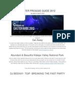 Easter Proggie Guide 2012