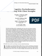 Hope in Cognitive Psychotherapies