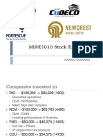 MINE1010 Stock Exchange
