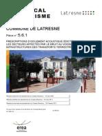 561-Prescriptions d'Isolement Acoustique Latresne PLU Approu