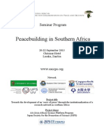 Program (SACCPS Peacebuilding Seminar