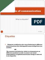 Etiquettes of Communication