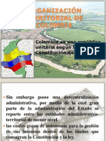 diapositiva ORGANIZACIÓN TERRITORIAL DE COLOMBIA ok