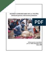 Manejo Comunitario - Vicugna Vicugna
