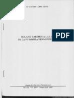 Roland Barthes a La Luz de La FH