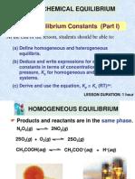 6.2 Equilibrium Constants