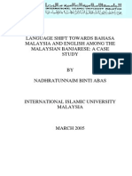 Language Shift Towards Bahasa