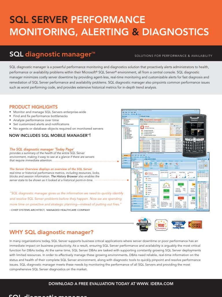 Sql Server &: Performance Monitoring, Alerting Diagnostics