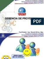 GERENCIA DE PROYECTOS I - SESIÓN 1