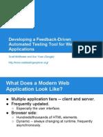 QSIC 2012 Presentation automated testing of web