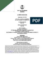 City Council 16 Sep 13 Agenda
