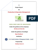 Excel Crop Care Ltd Bhavnager Report Sem -2
