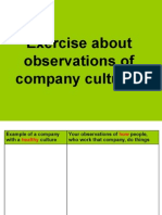Observations of company cultures