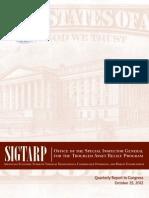 LIBOR Scandal - October 25 2012 Report to Congress