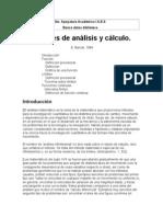 Apuntes de análisis y cálculo - E. Barrull II