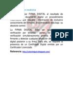 Firma Digital en Medicina