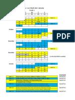 grade 2 2013-2014 math calendar