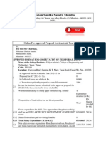 Proposal for Fixation of Fee for the Year 2013 14
