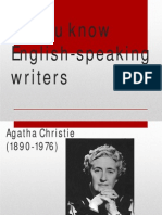 Do you know English-speaking writers