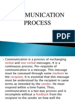 Communication Process Chapter 1