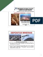 AULA 2 - DEPÓSITOS MINERAIS - TIPOS I