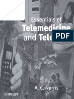 Essentials of Telemedicine and Telecare. A.C.Norris