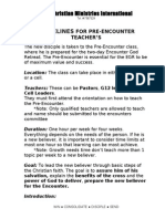 Pre Encounter Guideline