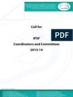 2nd Call for IPSF Coordinators and Committees 2013-14
