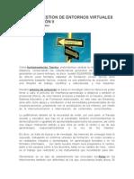 DISEÑO Y GESTION DE ENTORNOS VIRTUALES DE FORMACIÓN II