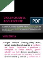 Violencia en El Adolescente
