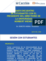 Presidencia Del Directorio i Encuentro Con Alumnos