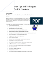 tips for teachers of esl students