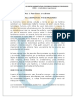 Lectura 1-1 Ciencia Economica y Generalidades